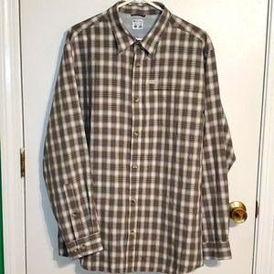 Mens L Columbia button down long sleeve shirt